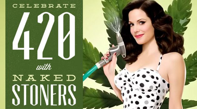 Happy 420: See Naked Chicks Smoking Weed