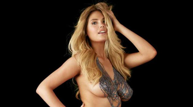 Kate Upton's Naked, Painted Body In 360 Degrees