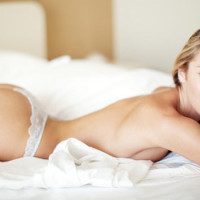 Candice Swanepoel Rolling Around In Bed Half Naked