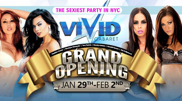 Vivid Cabaret NYC To Hold Grand Opening Parties Jan 29-Feb 3rd