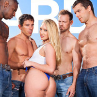 "AJ Applegate's 1st Gangbang Featured In Hard X's ""Gangbang Me"""