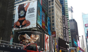 BRAZZERS Erects Billboard In Times Square