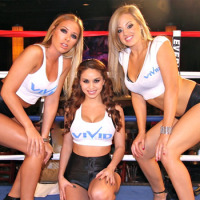"Vivid Cabaret NYC Girls Star As ""Round Card Girls"" at Broadway Boxing Show"