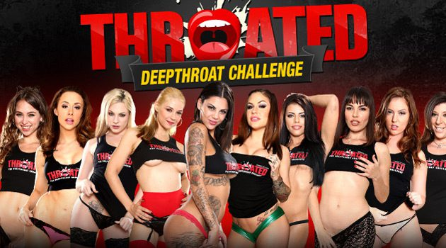 10 Porn Stars Compete in Throated.com Deep Throat Challenge