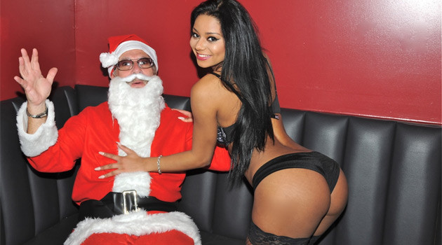 Santa Claus Gets Lap Dances at Rick's Cabaret NYC