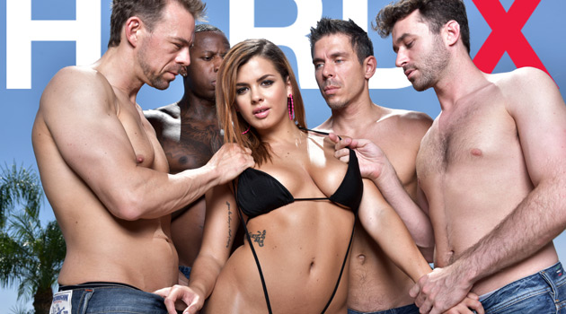 See Keisha Grey's First Gangbang & DP In Hard X's 'Gangbang Me 2'