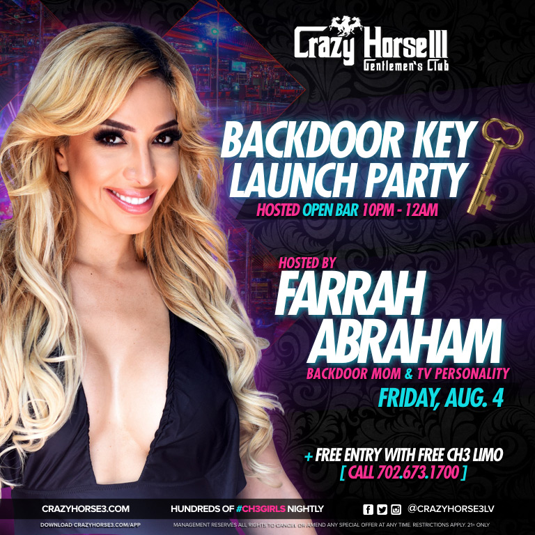 Crazy Horse III - Backdoor Key Launch Party