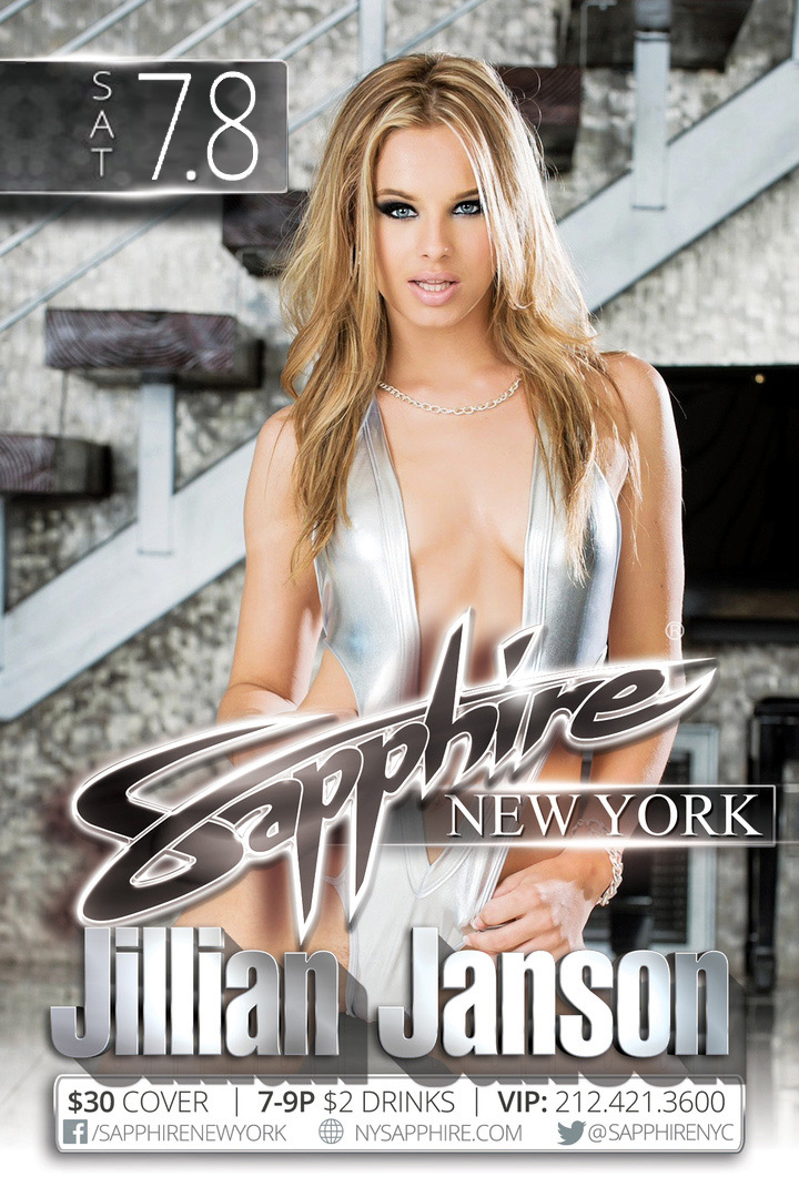 Jillian Janson is performing this weekend at Sapphire 60