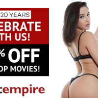 Adult Empire Is Celebrating Their 20th Anniversary With A 20% Off Sale