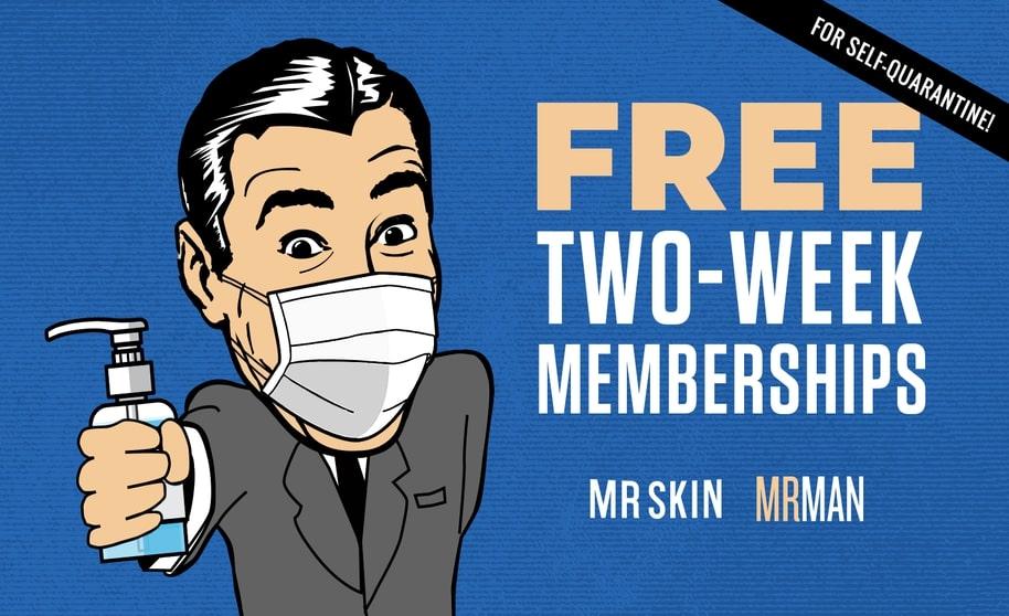 Mr. Skin Coronavirus promotion
